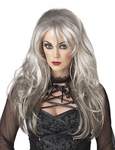 Parrucca da donna lunga di colore grigio