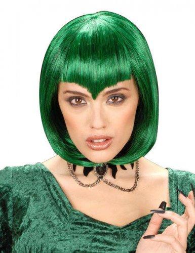 Parrucca corta per donna verde