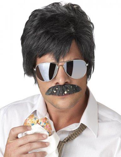 Parrucca e baffi neri da detective privato