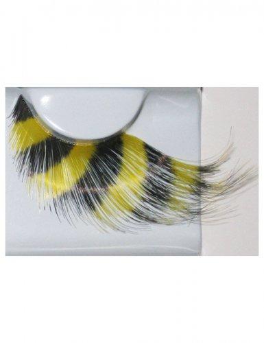 Ciglia finte a righe nere e gialle