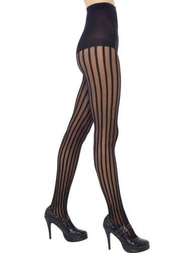 Calze a righe verticali nere per donna