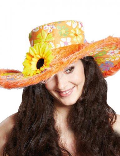 Cappello hippie colorato con fiori