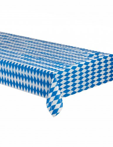 Tovaglia bavarese blu e bianca a scacchi oktoberfest