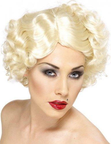 Parrucca corta biondo, platino da donna