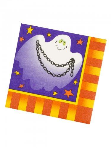 Tovaglioli in carta con fantasma per halloween