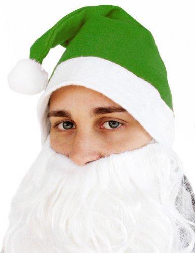 Cappello da babbo natale verde per adulto