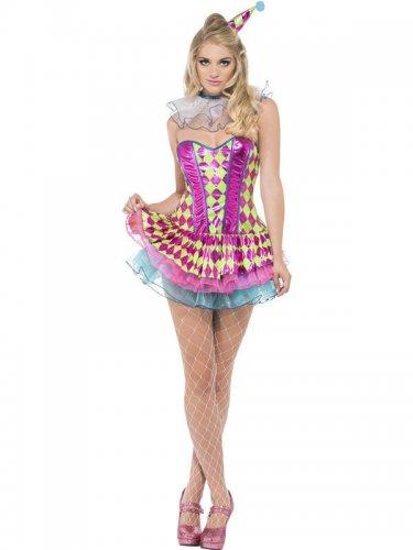 Costume da giullare clown sexy per donna