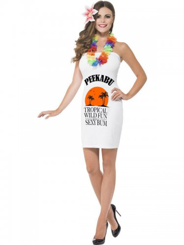 Costume Peekabu bottiglia di rum per donna