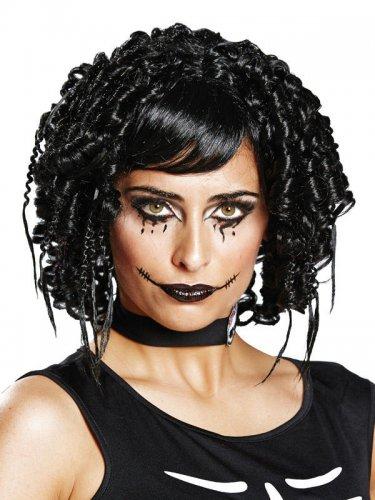 Parrucca gotica nera per donna
