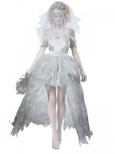 Costume sposa fantasma donna halloween deluxe