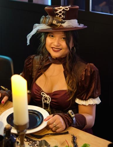 Costume Steampunk bordeaux donna-1