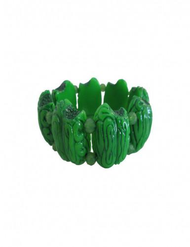 Bracciale cervello verde zombie per adulto
