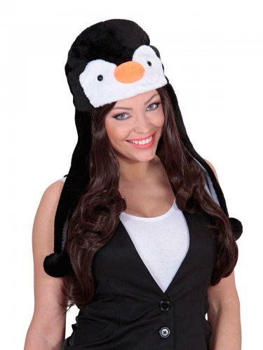 Cappello da pinguino in peluche