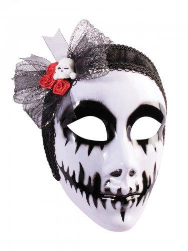Maschera dia de los muertos bianco e nero