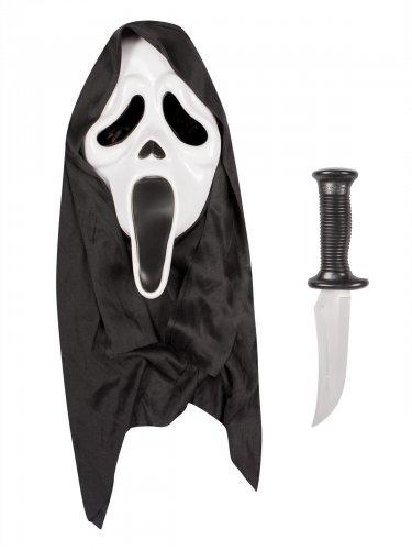 Maschera e coltello Scream™ adulto