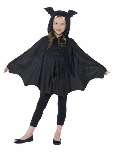 Poncho pipistrello nero bambino halloween-1