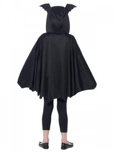 Poncho pipistrello nero bambino halloween-2