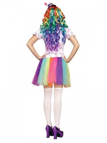 Costume clown arcobaleno per donna-1