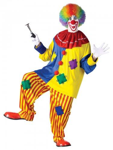 Costume da clown rosso per adulto