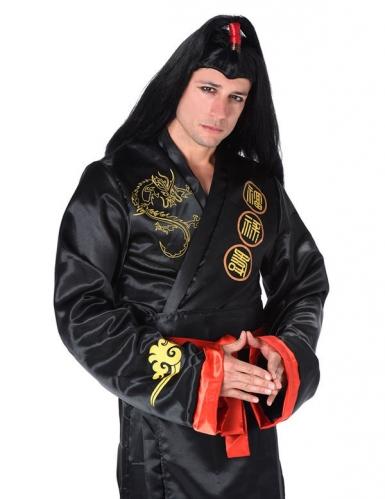 Costume samurai nero e dorato per adulto-1