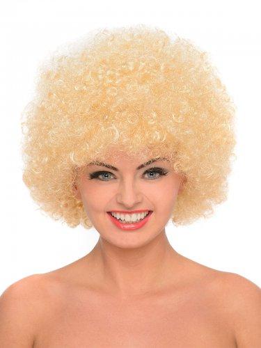 Parrucca afro anni 70 bionda