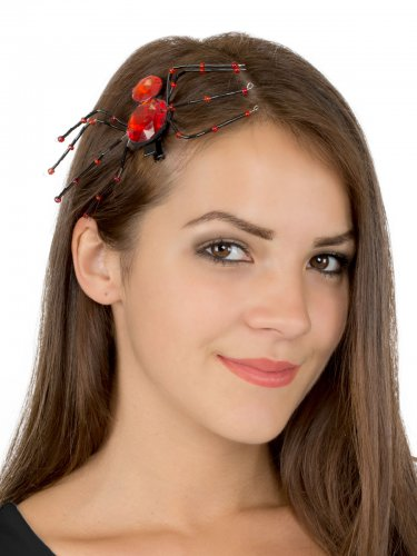 Spilla per capelli ragno rosso Halloween