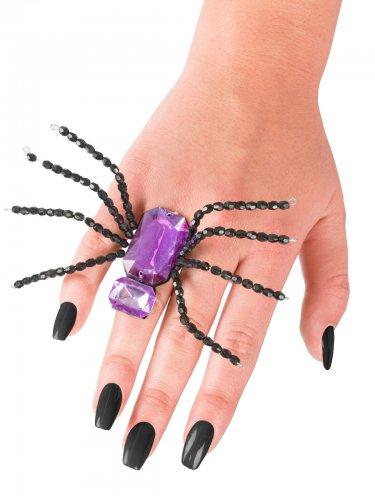 Anello ragno nero e viola