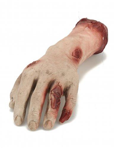 Decorazione per halloween mano sanguinante