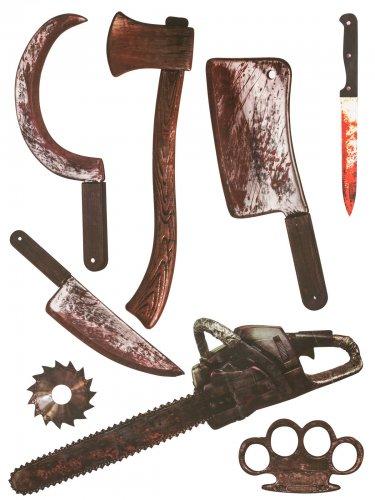 8 Adesivi armi insanguinate 75 x 70 cm