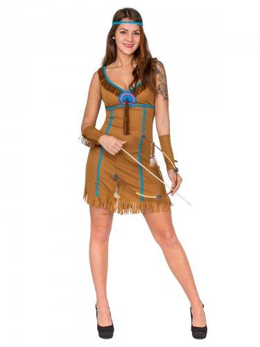 Costume marrone da indiana per donna