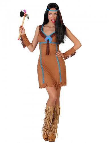 Costume marrone da indiana per donna-1