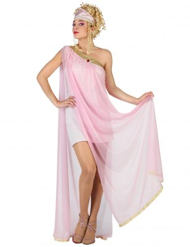 Costume da romana antica rosa chiaro per donna
