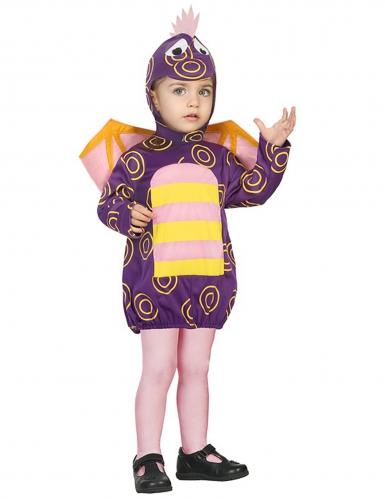 Costume da drago viola per bambino