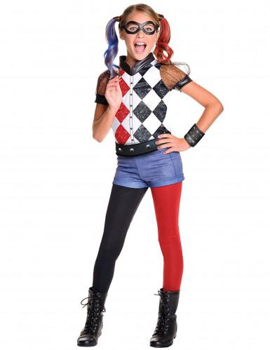 Costume lusso Harley Quinn™ per bambina DC Super Hero Girls™