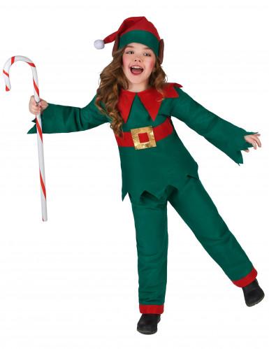 Costume da elfo di natale per bambina e bambino-1