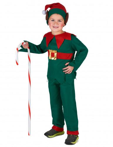 Costume da elfo di natale per bambina e bambino-3