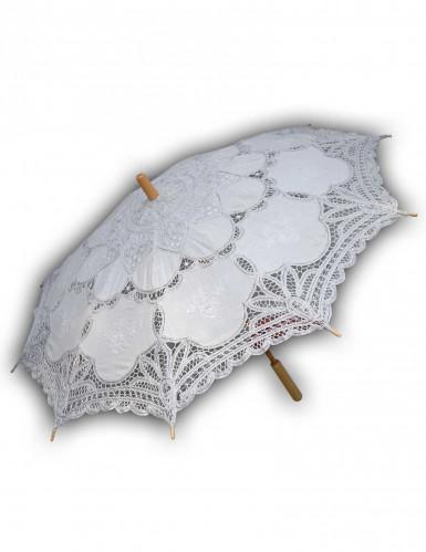 Ombrello in pizzo bianco lusso