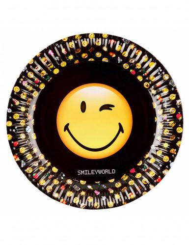 8 piatti in cartone 23 cm Smiley Emoticons™