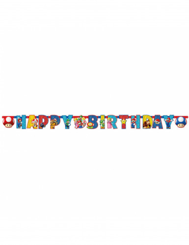 Ghirlanda Happy Birthday Super Mario™-1