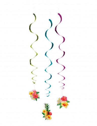 3 Decorazioni a spirale Hawaii 60 cm