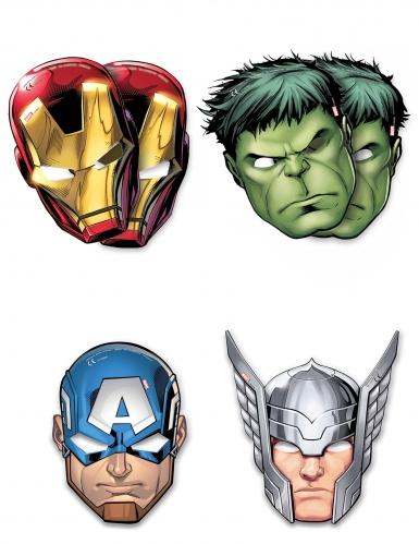 6 maschere di cartoncino Avengers Mighty™