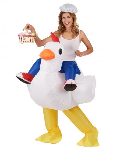 Costume pollo gonfiabile per adulto Carry Me-1