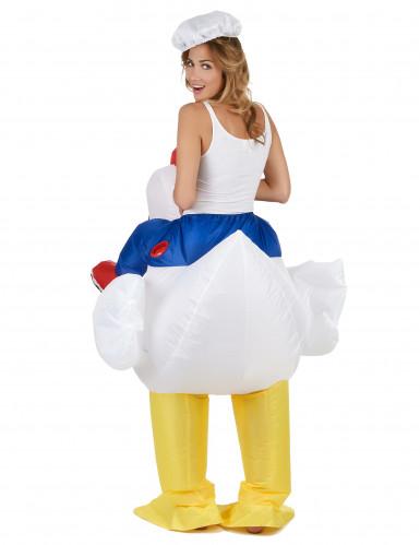 Costume pollo gonfiabile per adulto Carry Me-2