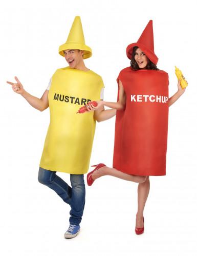 Costume di coppia senape e ketchup