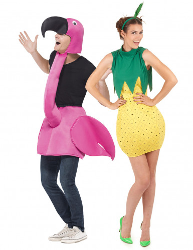 Costume di coppia fenicottero rosa e Ananas