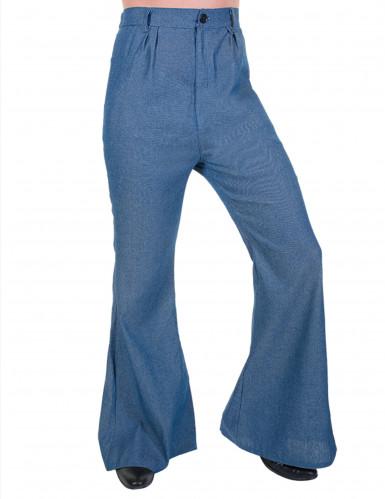 Pantalone disco zampa d'elefante jeans per uomo