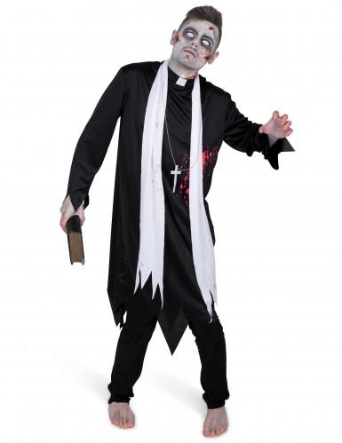 Costume prete zombie per uomo