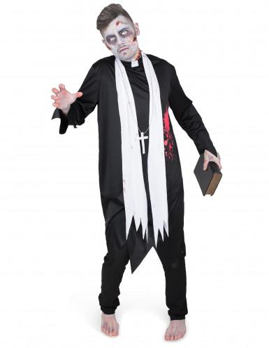 Costume prete zombie per uomo-1