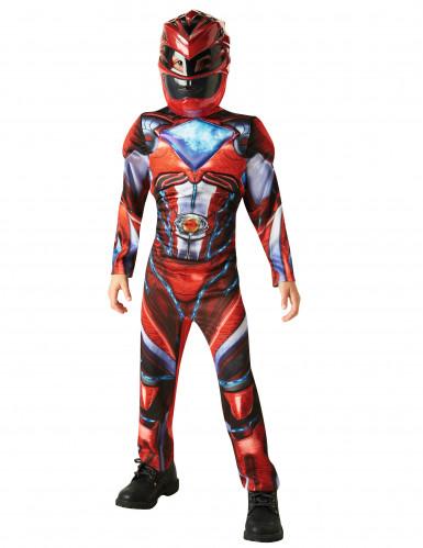Costume Power Rangers™ Rosso Deluxe Bambino-1