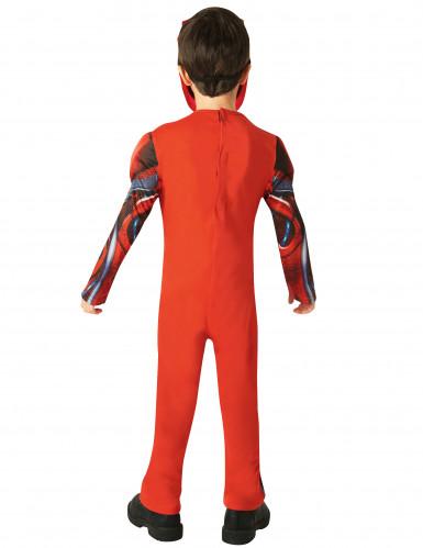Costume Power Rangers™ Rosso Deluxe Bambino-2